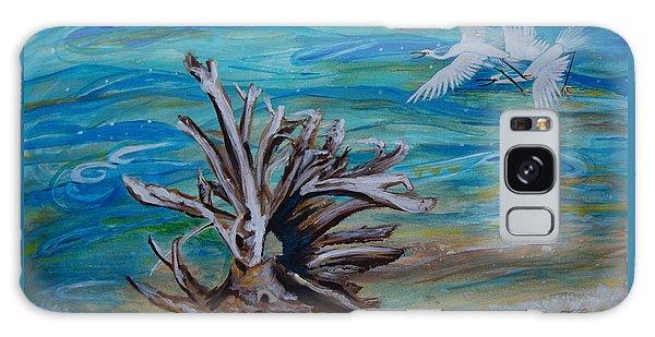 Driftwood On Lake Huron Galaxy Case