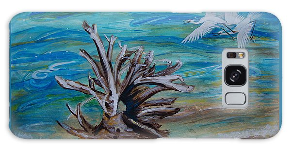 Driftwood On Lake Huron Galaxy Case by Veronica Rickard