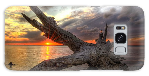 Driftwood Sunset Galaxy Case
