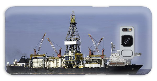 Drill Ship In Blue Ocean Galaxy Case