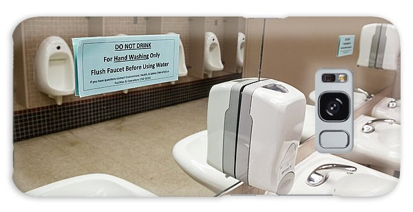 Drinking Water Warning Sign Galaxy Case by Jim West