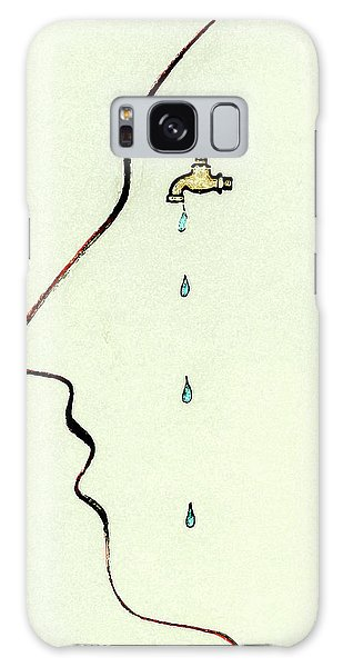 Anguish Galaxy Case - Dripping Faucet On Human Face by Ikon Ikon Images