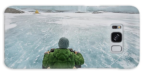 Cloudscape Galaxy Case - Driving An Atv Across The Frozen Lake by Alasdair Turner