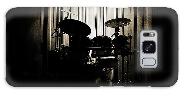Drum Set On Stage Photograph Combo Jazz Sepia 3234.01 Galaxy Case