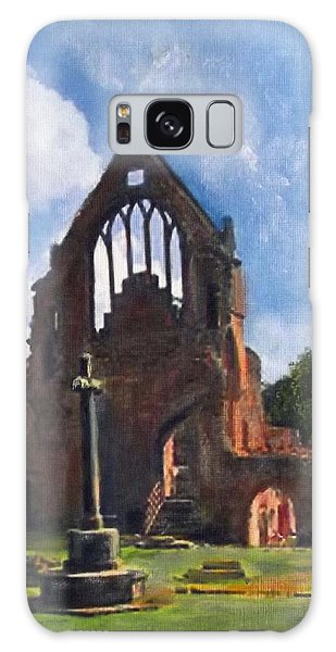 A Space To Cherish Dryburgh Abbey  Galaxy Case by Richard James Digance