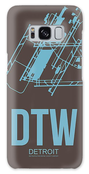 Motor City Galaxy Case - Dtw Detroit Airport Poster 1 by Naxart Studio