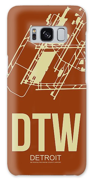 Motor City Galaxy Case - Dtw Detroit Airport Poster 2 by Naxart Studio