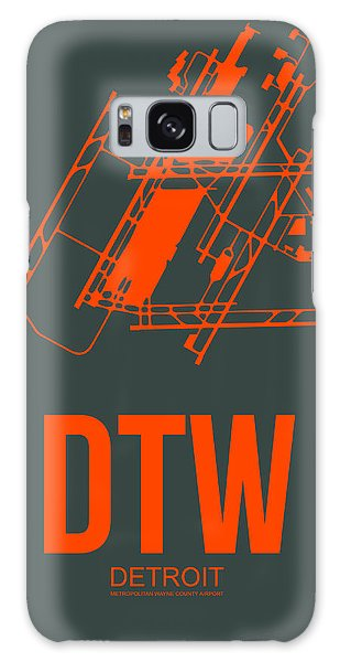 Motor City Galaxy Case - Dtw Detroit Airport Poster 3 by Naxart Studio