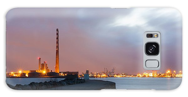 Dublin Port At Night Galaxy Case by Semmick Photo