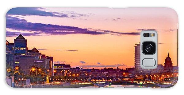 Galaxy Case featuring the photograph Dublin Skyline At Dusk / Dublin by Barry O Carroll