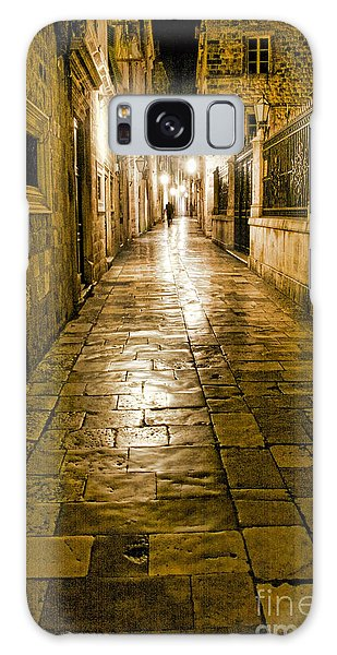 Dubrovnik Streets At Night Galaxy Case