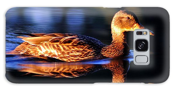 Duck On A River With Refletion Galaxy Case by Todd Soderstrom