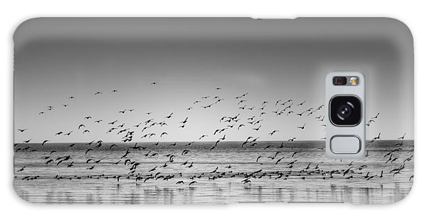 Duck Over Lake 1 B_w Galaxy Case