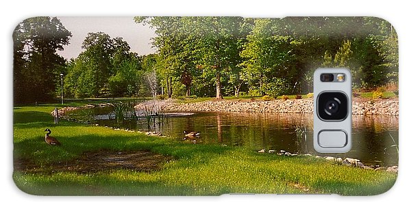 Duck Pond With Water Fountain Galaxy Case by Amazing Photographs AKA Christian Wilson
