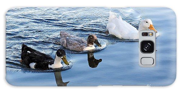 Duck Trio Reflecting Galaxy Case