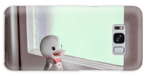 Duckie At The Window Galaxy Case