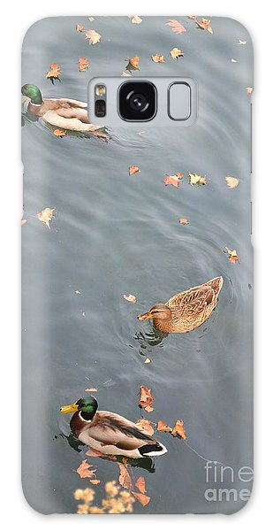 Ducks And Autumn Leaves Galaxy Case