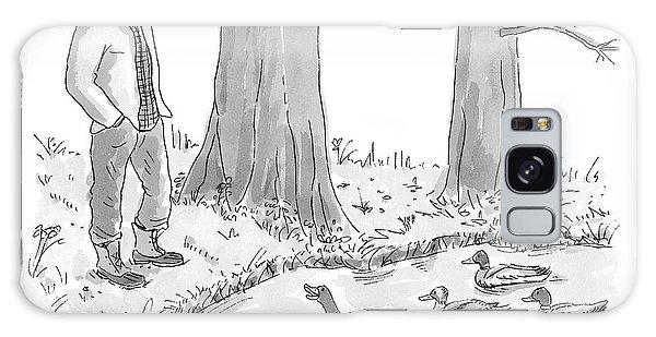 Ducks In A Pond Speak To A Man Galaxy Case