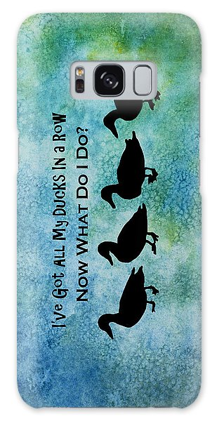 Ducks In A Row Galaxy Case