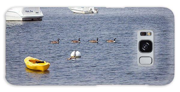 Ducks In Northport Harbor Galaxy Case