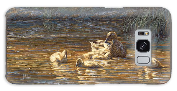 Ducks Galaxy Case by Lucie Bilodeau