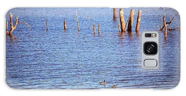 Ducks On The Lake Galaxy Case by Pattie Calfy