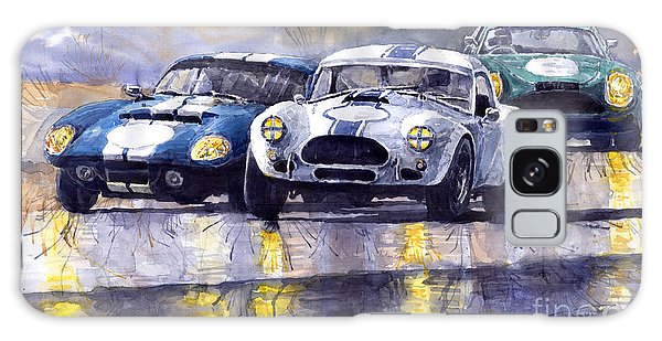 Coupe Galaxy Case - Duel Ac Cobra And Shelby Daytona Coupe 1965 by Yuriy Shevchuk