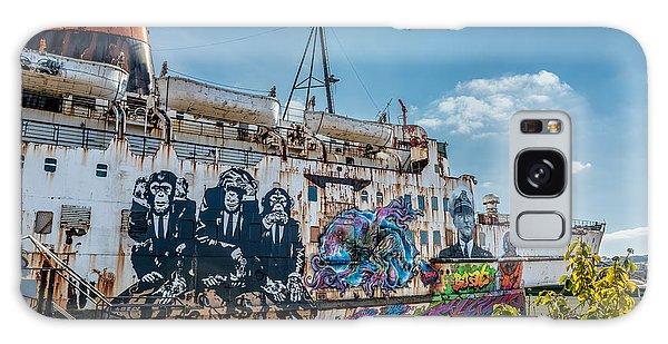 Swan Boats Galaxy Case - Duke Graffiti  by Adrian Evans