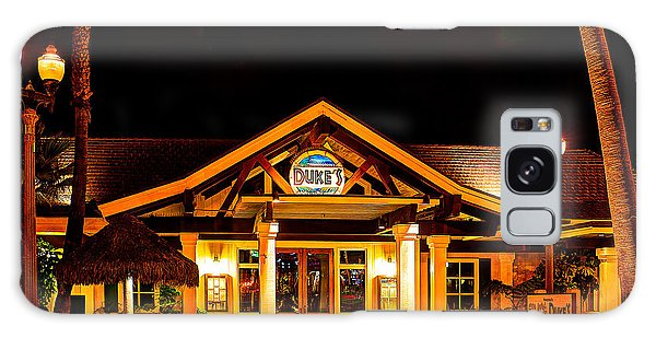 Duke's Restaurant Front - Huntington Beach Galaxy Case by Jim Carrell