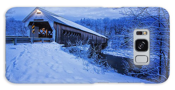 Dummerston Bridge In Winter Galaxy Case