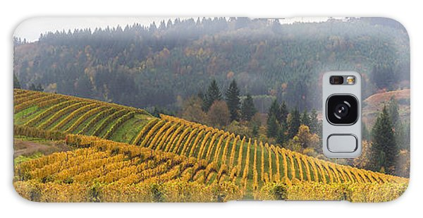 Dundee Oregon Vineyards Scenic Panorama Galaxy Case by Jit Lim