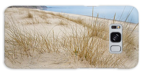 Dune Grass On Lake Michigan Galaxy Case by Mary Lee Dereske