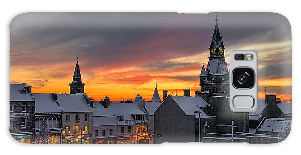 Dunfermline Winter Sunset Galaxy Case