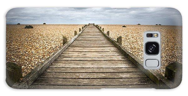 Dungeness Beach Walkway Galaxy Case