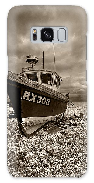 Dungeness Boat Under Stormy Skies Galaxy Case