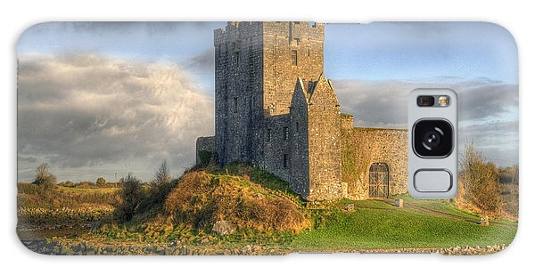 Dunguaire Castle With Dramatic Sky Kinvara Galway Ireland Galaxy Case