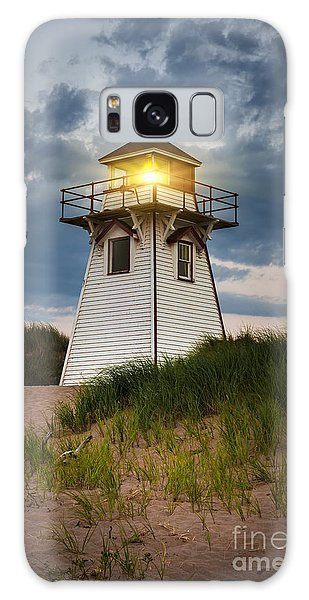 Lighthouse Galaxy Case - Dusk At Covehead Harbour Lighthouse by Elena Elisseeva