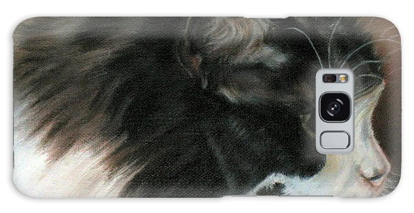 Dusty Our Handsome Norwegian Forest Kitty Galaxy Case by LaVonne Hand