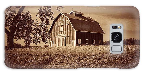 Dutch Colonial Quilt Barn In Sepia Galaxy Case