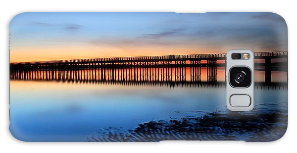 Duxbury Beach Powder Point Bridge Twilight Galaxy Case by John Burk
