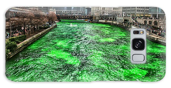 Dyeing The Chicago River Green Galaxy Case