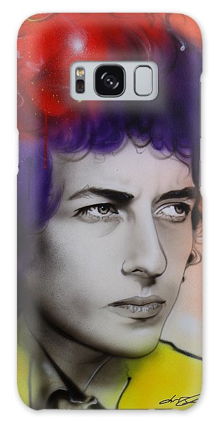 Bob Dylan - ' Dylan ' Galaxy Case by Christian Chapman Art