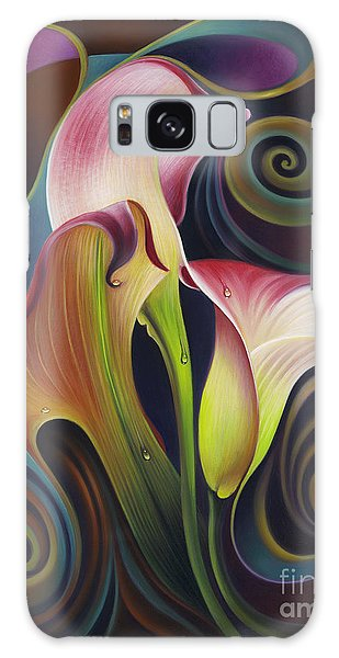 Dynamic Floral 4 Cala Lillies Galaxy Case