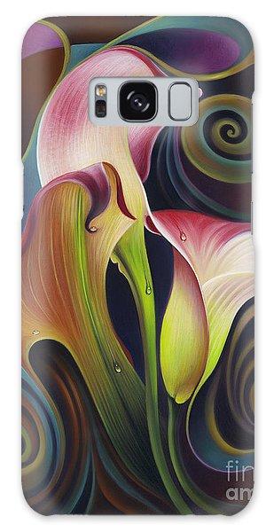 Dynamic Floral 4 Cala Lillies Galaxy Case