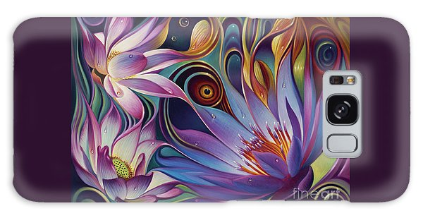 Dynamic Floral Fantasy Galaxy Case