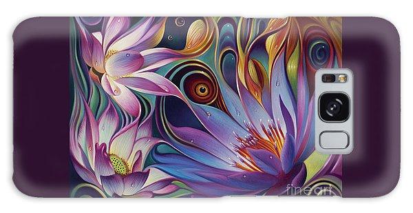 Dynamic Floral Fantasy Galaxy Case
