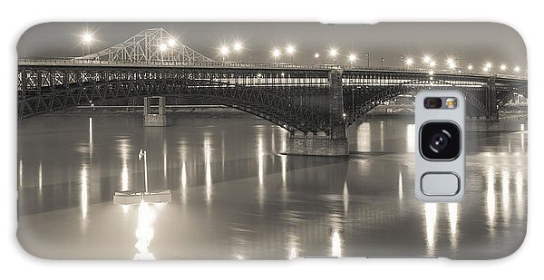 Eads Bridge And Train Galaxy Case by Scott Rackers