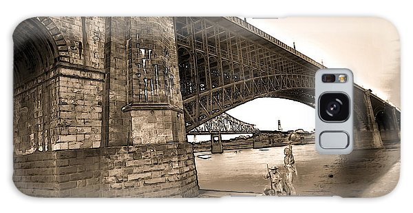 Eads Bridge Sepia Galaxy Case