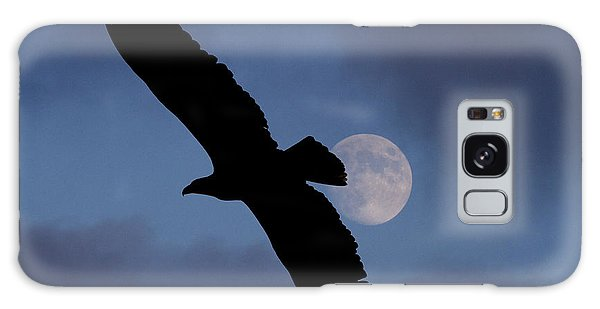 Eagle After Sundown Galaxy Case