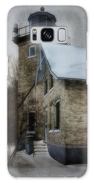 Cottage Galaxy Case - Eagle Bluff Light by Joan Carroll